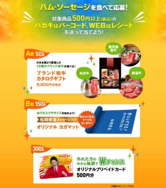 クローズド懸賞キャンペーン丸大食品