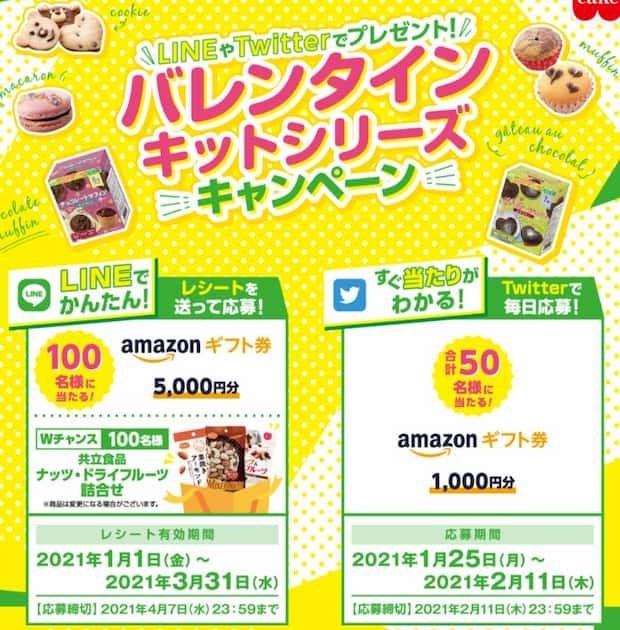クローズド懸賞キャンペーン共立食品
