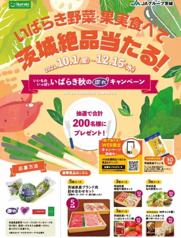 茨城 野菜 クローズド懸賞 懸賞 キャンペーン ハガキ応募