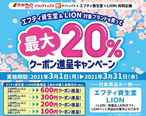 サンドラッグキャンペーン懸賞LION