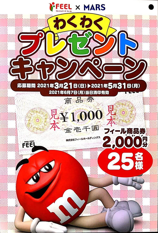 フィール キャンペーン 懸賞 MARS