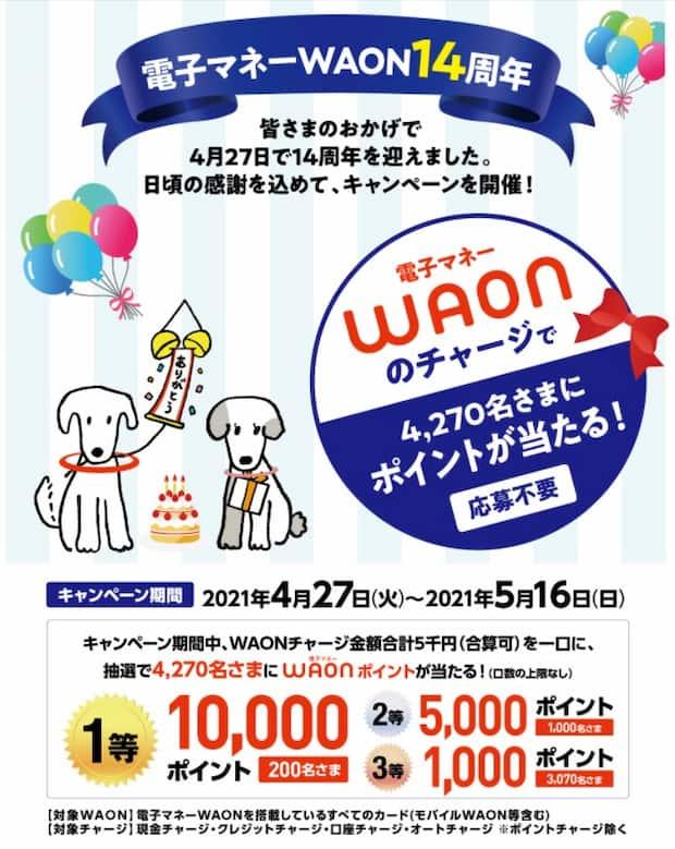 イオンキャンペーン 懸賞 WAON