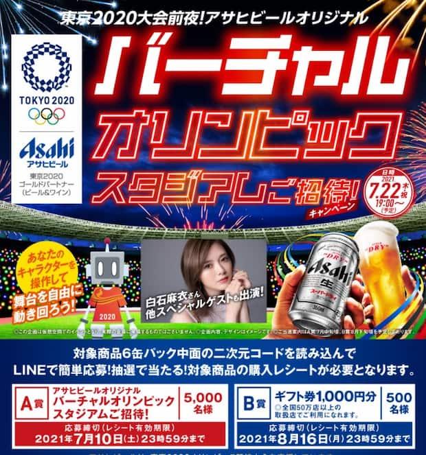 クローズド懸賞 懸賞 キャンペーン スーパードライ ビール